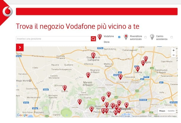 Copertura Vodafone ADSL