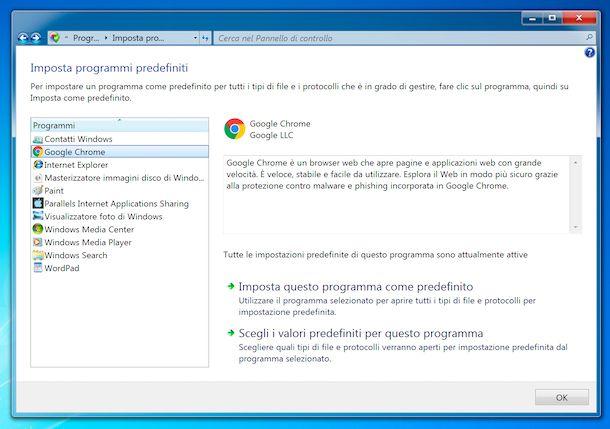 Windows 7 browser predefinito