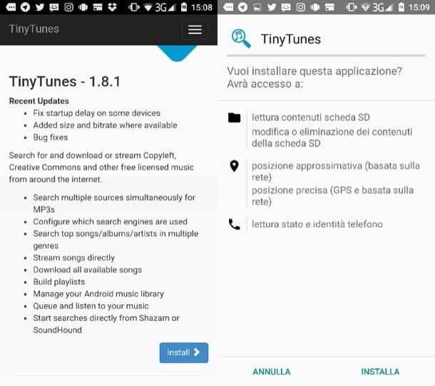 Applicazioni per scaricare musica Android