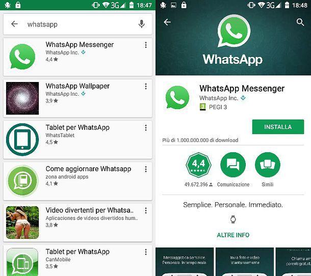 Come chattare WhatsApp