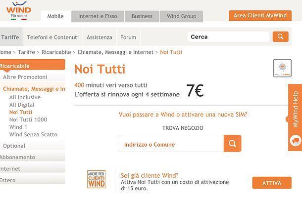 Offerte Wind smartphone