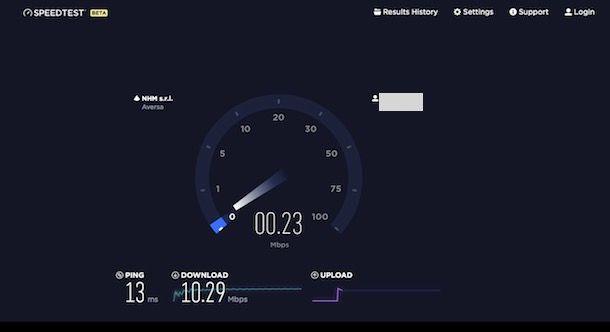 Test ADSL TIM