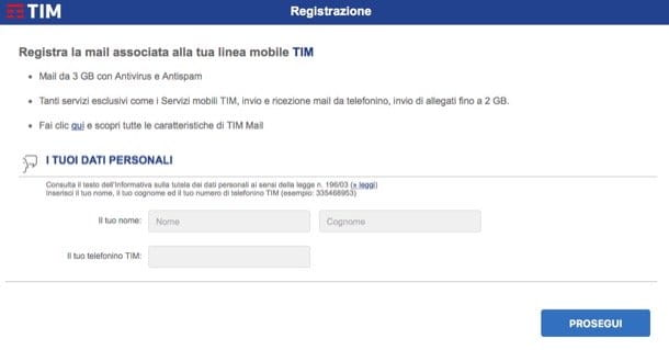 Come registrare TIM