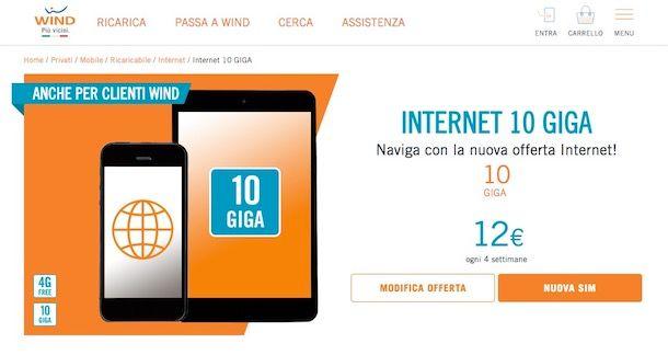 Offerte Wind Internet