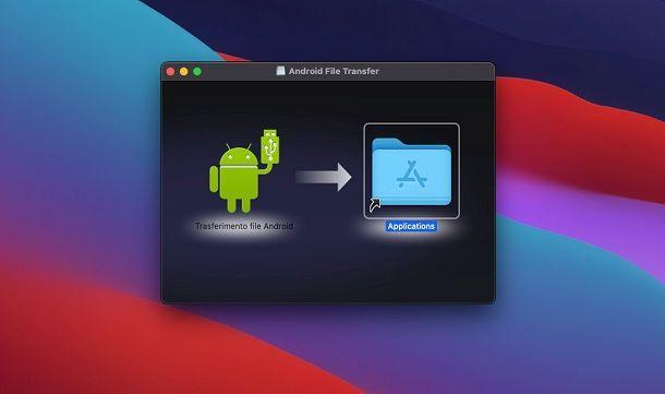Installazione Android File Transfer macOS