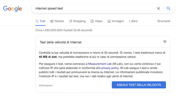 Speedtest Google