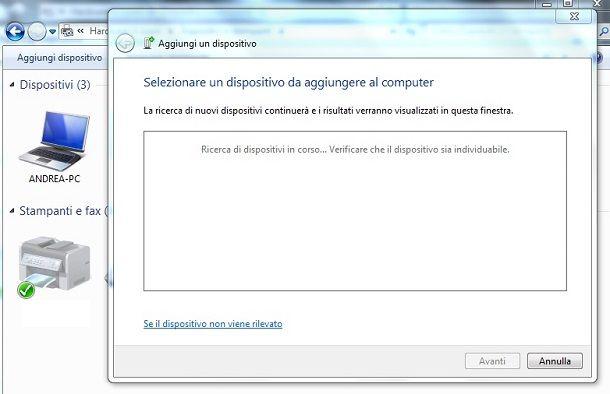 Come usare il Bluetooth su Windows 7