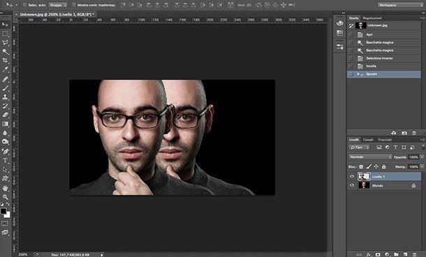 Applicazione per fotomontaggi Photoshop