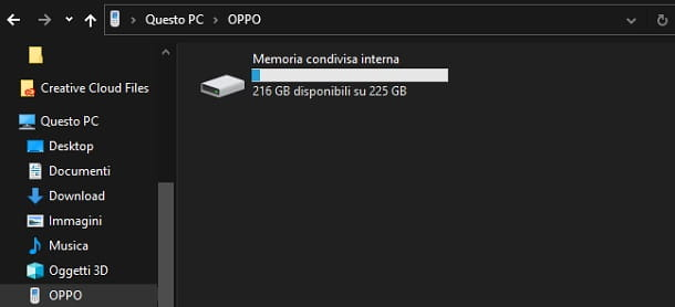 Condividere file da Android a PC Windows