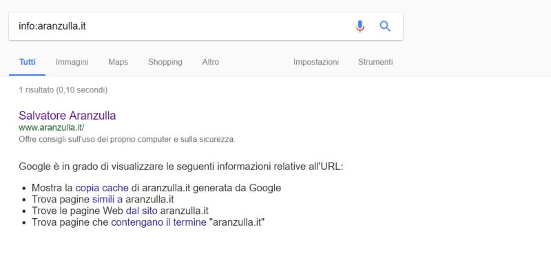 Come Cercare Su Google Salvatore Aranzulla