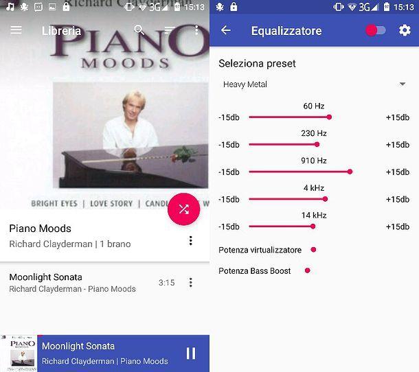 Applicazione per ascoltare musica