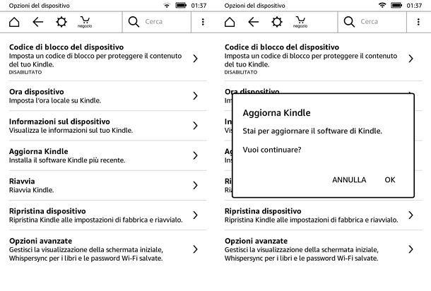 Come aggiornare Kindle