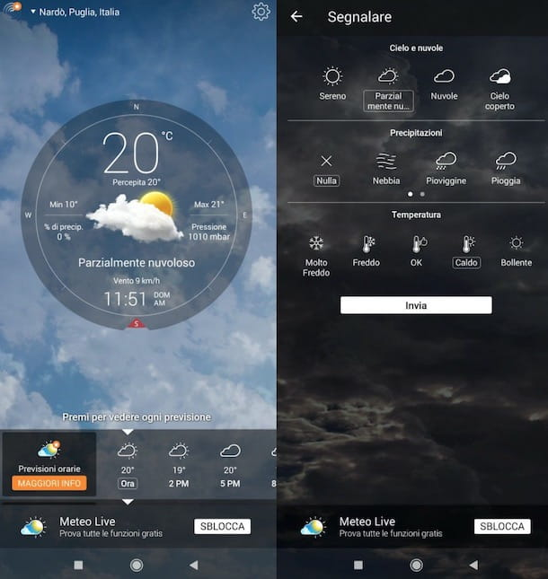 Altre app meteo Android