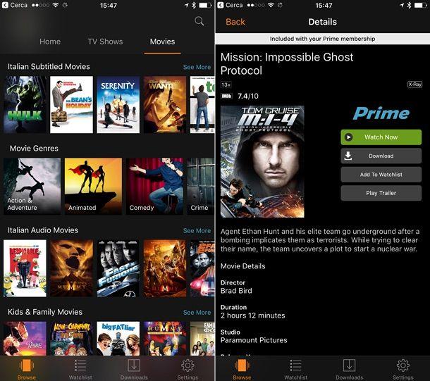 App per scaricare film gratis