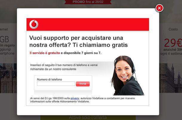 Come passare a Vodafone da TIM