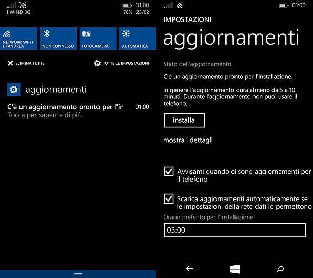 Come aggiornare Lumia