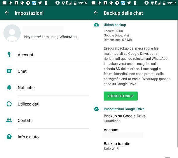 Come ripristinare backup WhatsApp