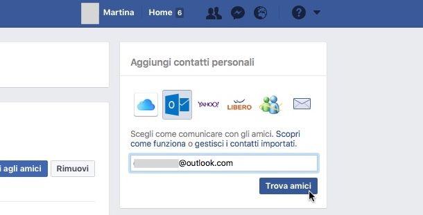 Come cercare amici su Facebook
