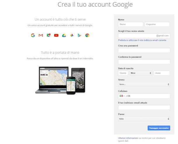 Come accedere Google