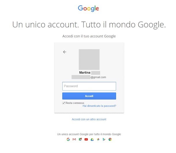 Come accedere Google