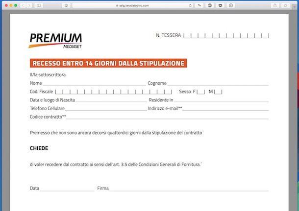Disdetta Mediaset
