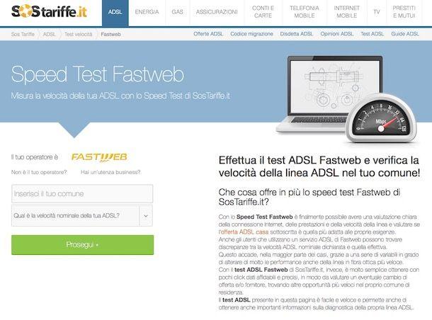 Test ADSL gratis