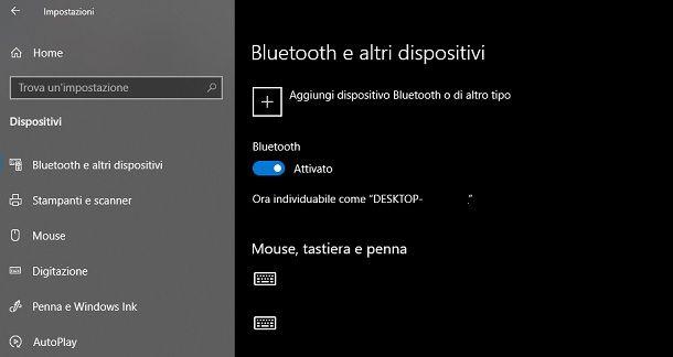 Come attivare il Bluetooth sul PC Windows