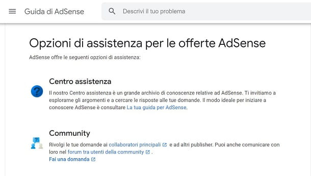 contattare Adsense