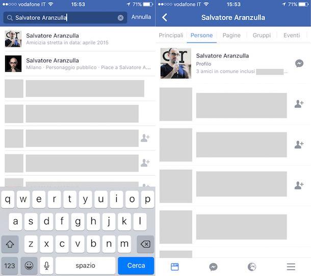 Come cercare Facebook