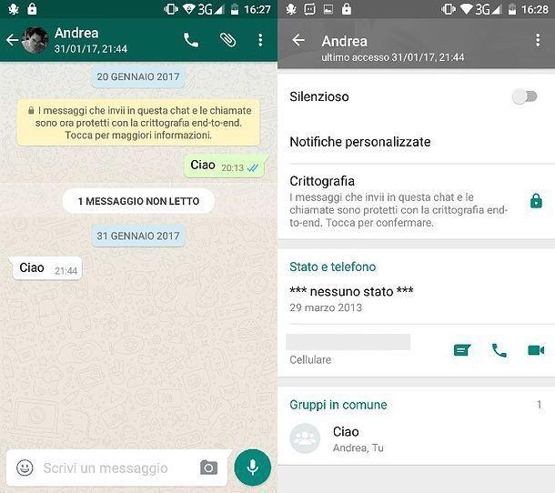 Come crittografare WhatsApp