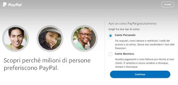 Come accedere a PayPal
