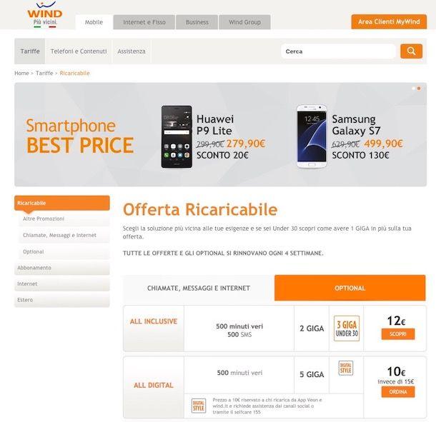Tariffe wind salvatore aranzulla for Offerte mobile