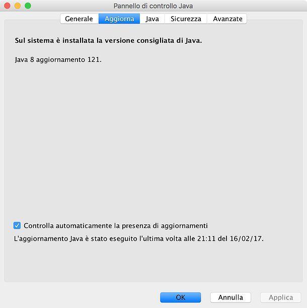 Come verificare versione Java