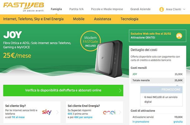 Offerte ADSL Fastweb