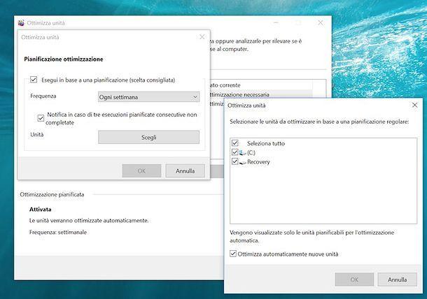 Come deframmentare Windows 10