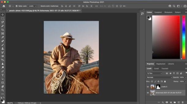 Cambiare sfondo a un soggetto su Photoshop