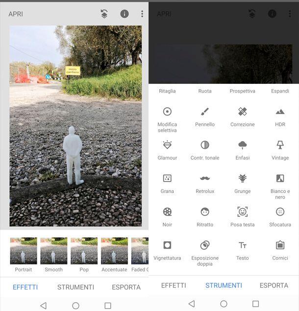 App per scrivere sulle foto Snapseed