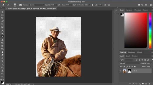 Scontornare su Photoshop