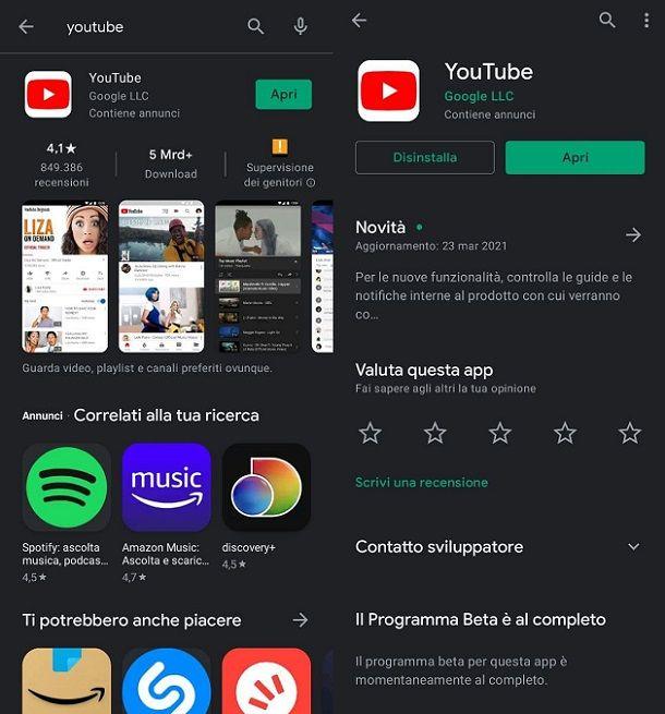 Come scaricare YouTube gratis su Android