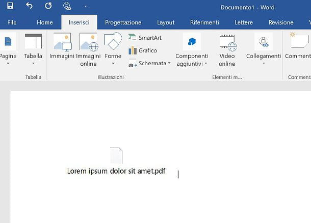 Come inserire PDF in Word