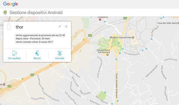 Come trovare il mio Android