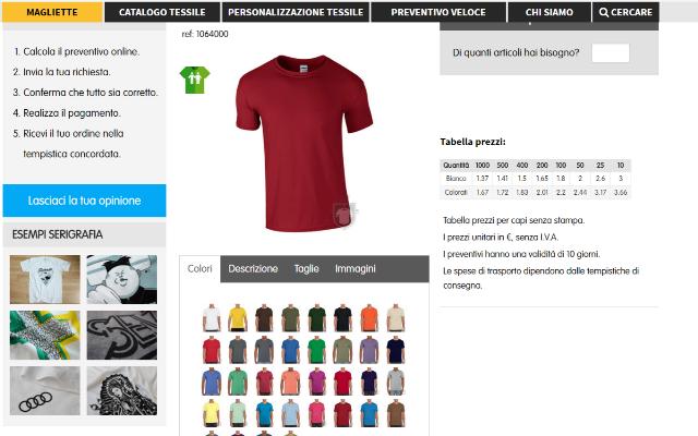 312f38bdc Per effettuare un ordine e acquistare una t-shirt personalizzata,  utilizzando il sito magliette.com, fai clic sulla voce di menu Magliette e,  ...