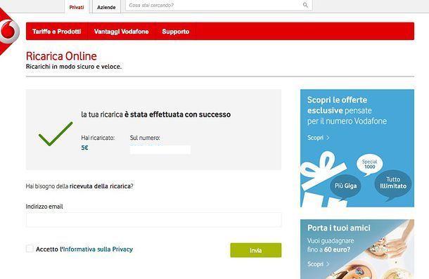 Come ricaricare Vodafone PayPal