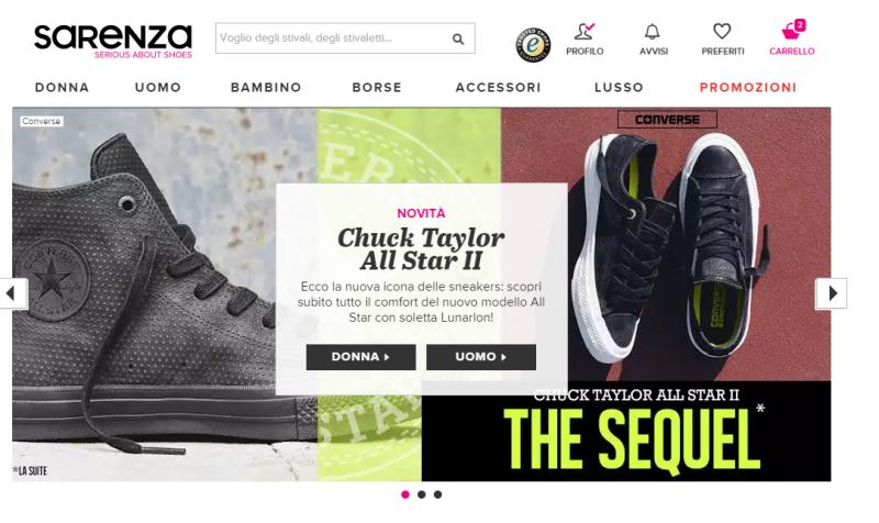 Uno tra i siti più frequentati per l acquisti di scarpe online è Sarenza.  Il portale di e-commerce è specializzato nella vendita di scarpe f6dc58f2fb8