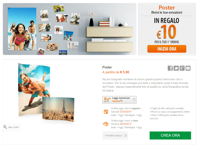35952f78ea Vai alla Home del sito e premi il pulsante Stampe per stampare foto digitali .