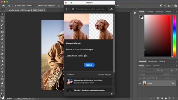 Funzione automatica per scontornare foto su Photoshop
