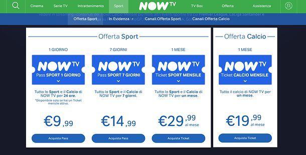 Streaming TV calcio