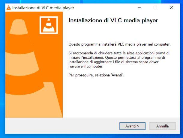 Installazione VLC su Windows 10