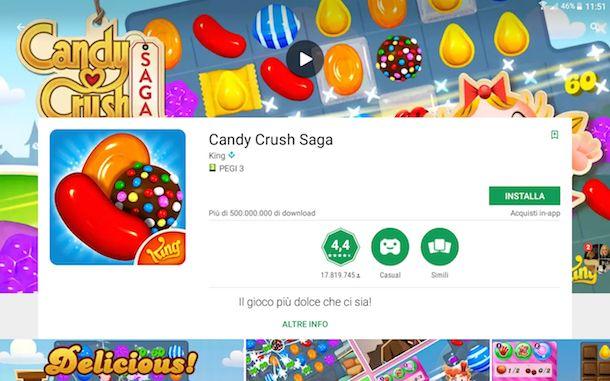 Candy Crush Saga gratis da scaricare