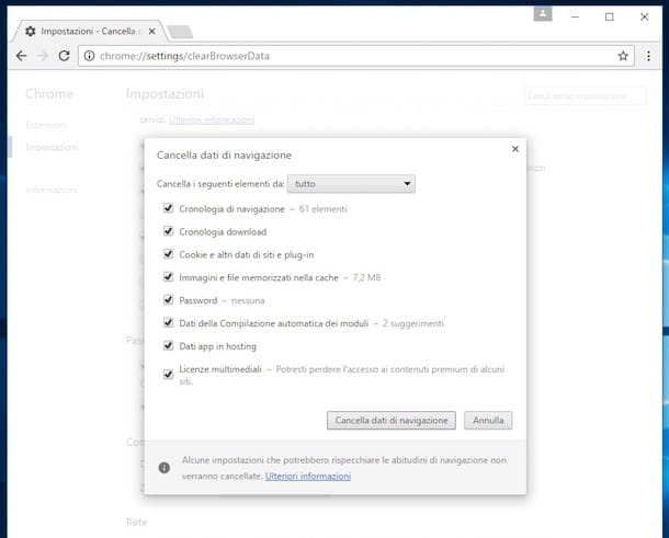 Come cancellare cronologia Google Chrome automaticamente